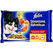 Comida húmeda para gatos Felix Sensations Carnes en gelatina 1200 gr Purina Felix