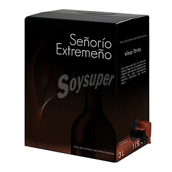 Señorío Extremeño Vino de la tierra de Extremadura tinto bag in box 3 l