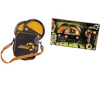 EURASPA Squap con bolsa que incluye 4 pelotas, 2 squaps que se pueden utilizar tanto en interior como en exterior y bolsa con cintas ajustables 1 unidad