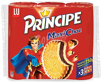 Príncipe Galletas rellenas de crema chocolate MaxI Choc Pack 3 x 250 g