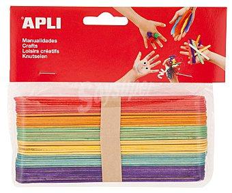 APLI Bolsa de 40 palos de helado de tamaño grande y de diferentes colores 1 unidad