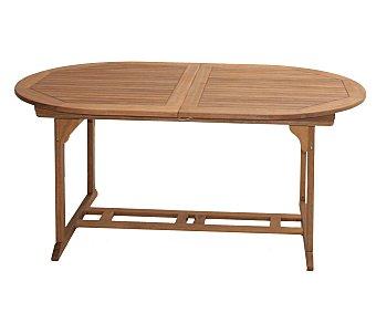 PLOOS Mesa ovalada extensible modelo Goteborg, fabricada en madera de acacia 100% FSC y medidas: 160/210x100x75 centímetros 1 unidad
