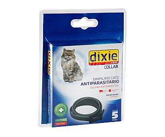 Dixie Collas antiparasitario de color negro para gatos 1 unidad