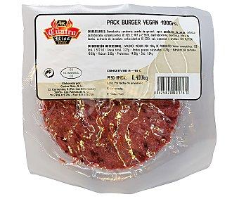 Cuatro Ríos Burgers veganas, elaboradas con verduras, hortalizas y proteína de soja 4 x 100 g