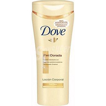 Dove Crema corporal piel dorada loción autobronceadora piel clara Frasco 250 ml