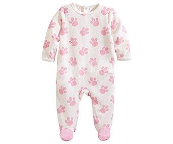 In Extenso Pijama pelele de bebe aterciopelado, color rosa, talla 80