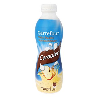 Carrefour Yogur Líquido Cereales 750 g