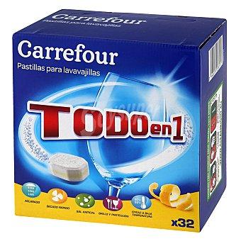 Carrefour Lavavajillas Total Protección Caja 32 unidades