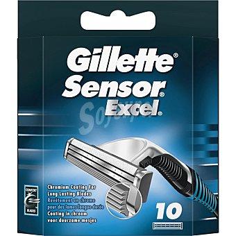 Gillette Sensor Excell recambio de maquinilla de afeitar Estuche 10 unidades