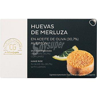 Club del gourmet Huevas de merluza en aceite de oliva al limón lata 72 g lata 72 g