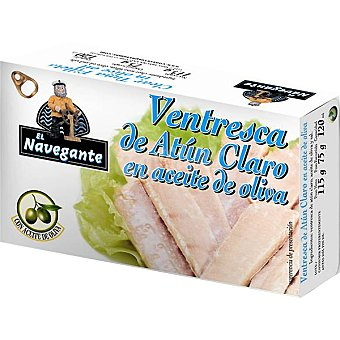 EL NAVEGANTE Ventresca de atún claro en aceite de oliva Lata 81 g neto escurrido