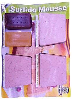 Martiko Pate fresco surtido 3 trozos (pato con 2 uvas, pimienta verde, provenzal) y salsa f.bosque y melocoton Paquete 360 g
