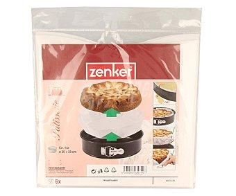 ZENKER Capsulas de papel desechables para moldes de 26 - 28 centímetros 6 unidades