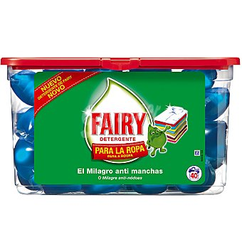 Fairy detergente máquina liquido para la ropa envase 40 capsulas