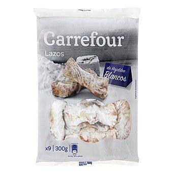 Carrefour Lazos de hojaldre blancos 9 ud. 300 g