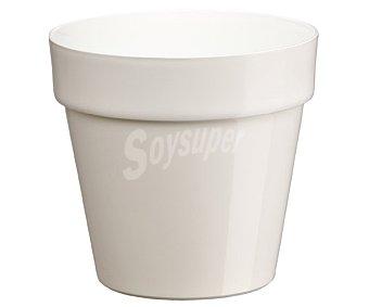 VAN Maceta plástica con diseño clásico de color blanco 1 Unidad