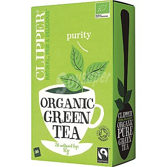 Clipper Purity té verde ecológico caja 26 bolsitas