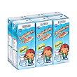 Preparado lacteo liquido infantil crecimiento con hierro a partir 1 año Brick pack 6 x 200 ml - 1200 ml Hacendado