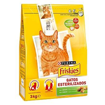 Friskies Purina Comida para gatos esterilizados 3 kg
