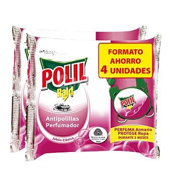 Polil Raid Pinza antipolilla jabón clásico 4 ud