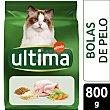 Hairball adult pienso para gatos adultos de 1-10 años rico en pavo, arroz y cereales para el control de las bolas de pelo 800 g Ultima Affinity