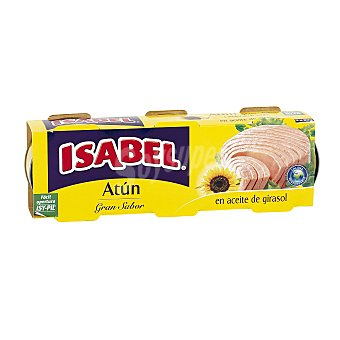 Isabel Atún en aceite de girasol Pack 3 latas x 52 g
