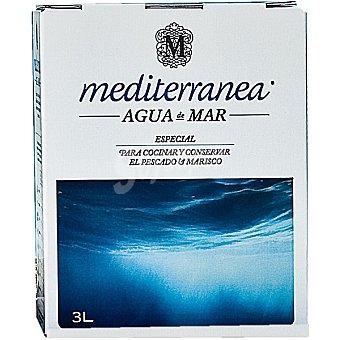 Mediterránea Agua de mar especial para cocinar y conservar el pescado y marisco Envase 3 l
