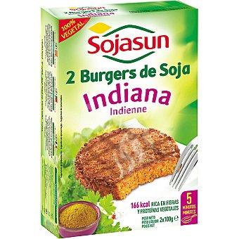 Sojasun Indiana burgers de soja envase 259 g 2 unidades