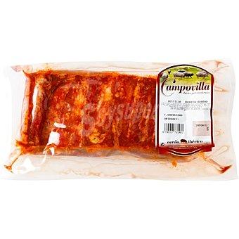 CAMPOVILLA Costillas adobadas de cerdo ibérico al vacio Envase 600 g