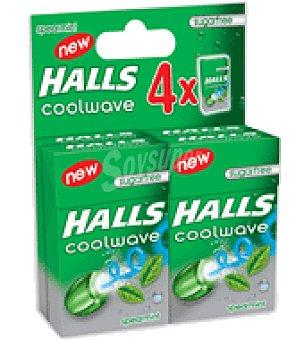Halls Caramelos sin azúcar de Hierbabuena Pack de 4 paquetes