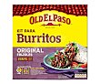 Kit para hacer burritos con tortillas de trigo, salsa original de tomate, pimiento y cebolla suave más sazonador de burritos 510 gramos Old El Paso
