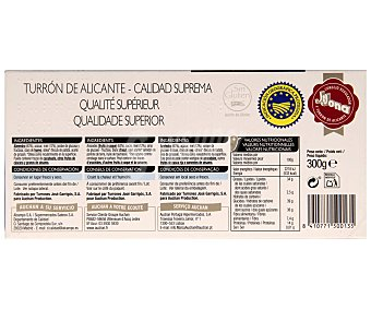 Mmm Auchan Turrón duro D.O. de Alicante 300 gramos