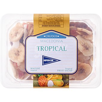 Hipercor Macedonia Tropical de frutos secos tarrina 200 g Tarrina 200 g