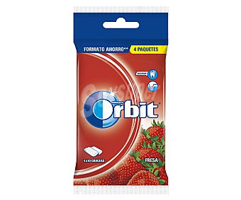 Orbit Chicles Sabor Fresa ácida 4x56g (4 envases de 14 unidades)