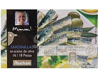 Mmm Auchan Sardinillas en aceite de oliva Lata de 80 grs