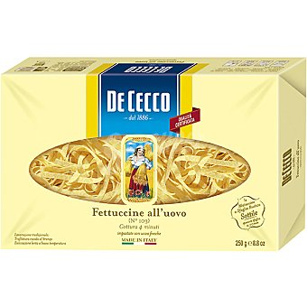 De Cecco Fetuccine al huevo Bolsa 250 g