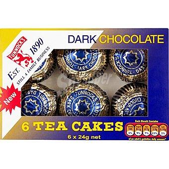 Tunnock's Teacakes de chocolate negro paquete 144 g 6 unidades