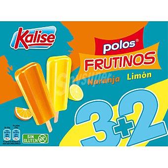 Kalise Frutinos polos de naranaja y limón 5 unidades estuche 400 g 5 unidades