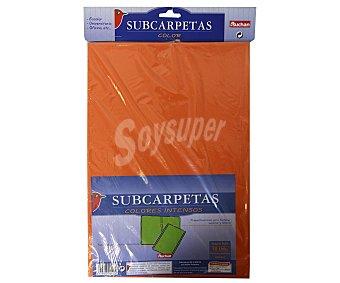Auchan Bolsa con 10 subcarpetas de colores intensos y de tamaño folio auchan 1u