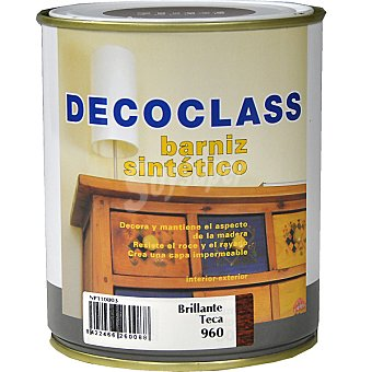 DECOCLASS Barniz sintético brillante color teca 750 ml 750 ml
