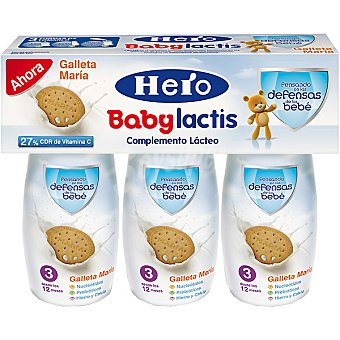Hero Baby Complemento lácteo con galletas María Lactis Estuche 300 ml
