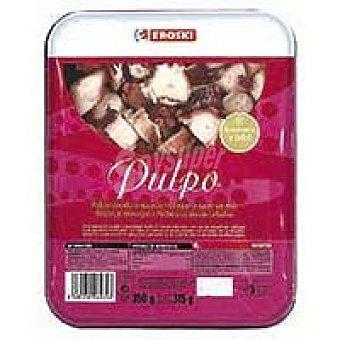 Eroski Pulpo cocido troceado Bandeja 250 g