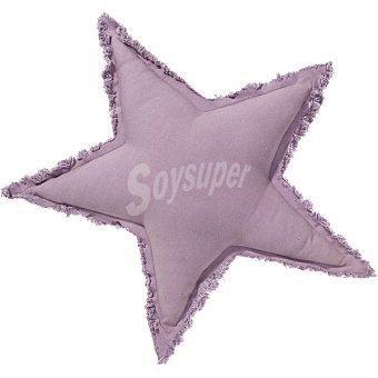 DOMBI Cojín con forma de estrella en color morado 1 Unidad