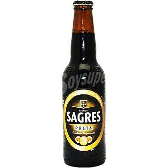 Sagres Preta cerveza negra portuguesa botella 33 cl Botella 33 cl