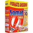 Detergente lavavajillas Multi Perfect 10 Oro caja 40 pastillas Somat