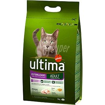 Ultima Affinity Comida para gatos esterilizados con pollo y cebada para gato bolsa 3 kg Bolsa de 3 kg