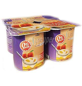 S.LINE Yogur desnatado con melocoton 4 UNI
