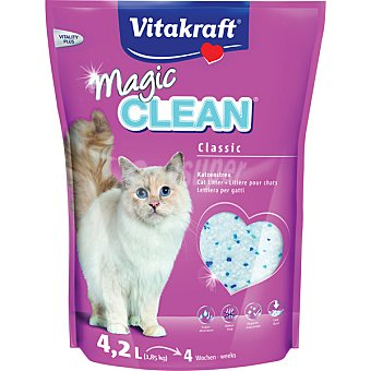 Magic Clean Vitakraft Magic clean perlas gel de sílice para gatos paquete 4,2 l Paquete 4,2 l