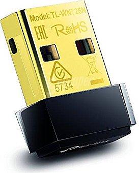 TP-LINK TL-WN725N -nano adaptador de red USB (150 Mbps, wps, 64/128 wep, wpa, PA2/WPA-PSK/WPA2-PSK(TKIP/AES)), negro