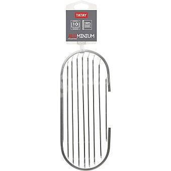 Tatay Aluminium cestillo ovalado de pared en color aluminio